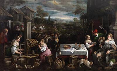 July Painting - July. Leo by Francesco Bassano