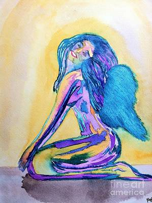 Angel Blues Drawing - July  by Melissa Darnell Glowacki