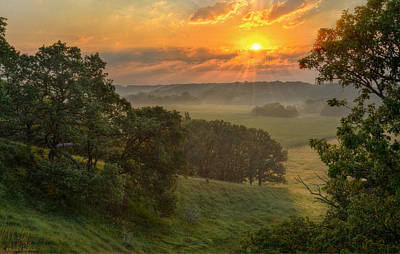 July Morning Along The Ridge Art Print by Bruce Morrison