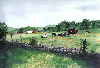 Painting - July Morning Eastern Connecticut by Norman Freyer