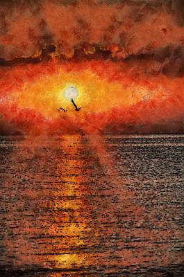 Bird Painting - July Morning by Georgi Dimitrov