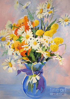 Painting - July Summer Arrangement  by Kathy Braud