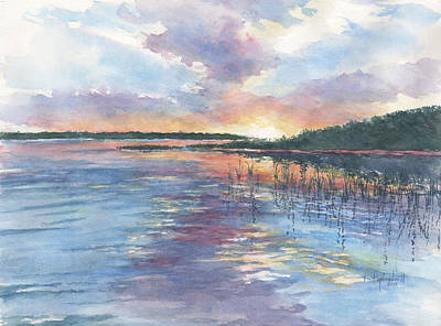 Painting - July Sunset by Kerry Kupferschmidt