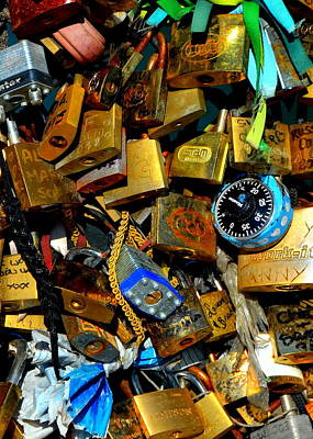Photograph - Jumble Of Locks by Carla Parris