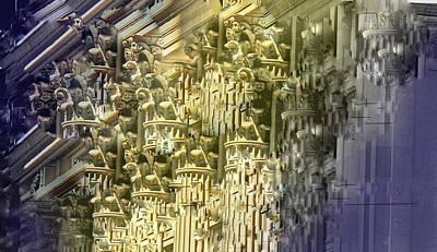 Digital Art - Jumbled by Ian  MacDonald