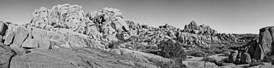 Jumbo Rocks Bw Art Print
