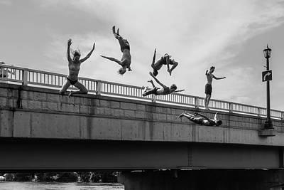 Formation Flying Photograph - Jump #2 by Luigi Casanova