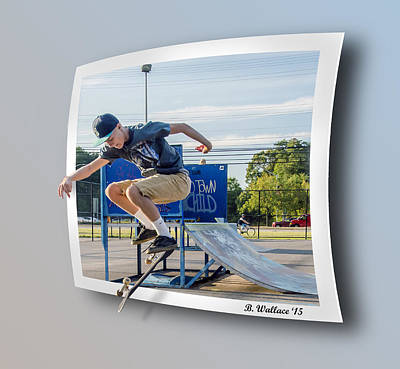 Jump And Flip Art Print