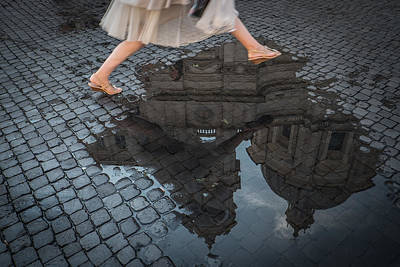 Water Reflections Photograph - Jump by Antonio Convista