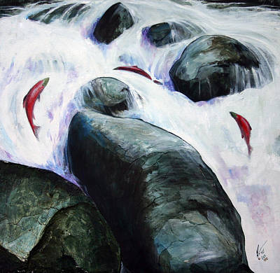 Spawning Mixed Media - Jump by Gregory Peters