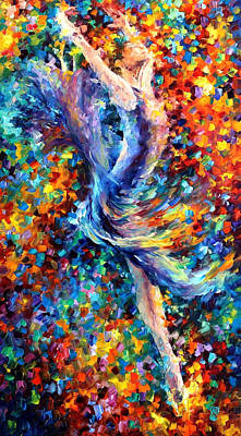 Free Painting - Jump - Palette Knife Oil Painting On Canvas By Leonid Afremov by Leonid Afremov