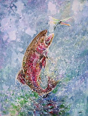 Painting - Jump by Zaira Dzhaubaeva