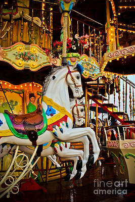 Jumpers -carousels Art Print by Colleen Kammerer