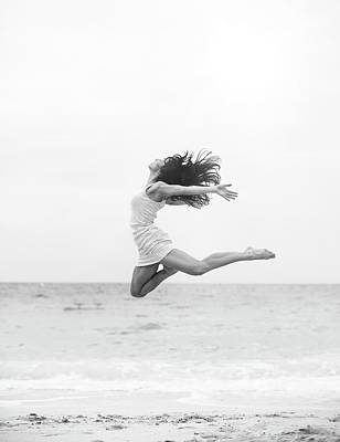 Photograph - Jumping At The Beach by Srdjana1