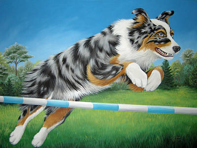 Painting - Jumping Aussie by Tish Wynne