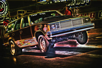 Digital Art - Jumping Chevelle by Richard J Cassato