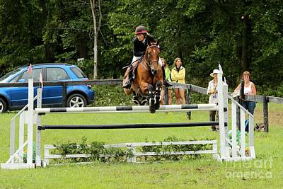 Jumping Eventer Art Print