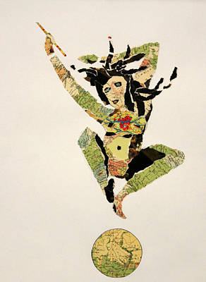 Jumping From The World With Joy Art Print