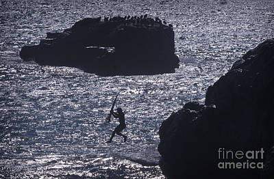 Photograph - Jumping In At Steamer Lane by Morgan Wright