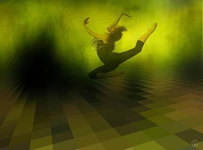 Dancing Digital Art - Jumping In by Gun Legler