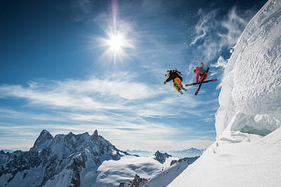 Skiing Photograph - Jumping Legends by Tristan Shu