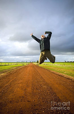 Achieving Royalty Free Images - Jumping Man Royalty-Free Image by Tim Hester