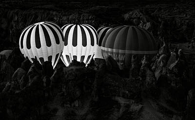 Hot Air Balloon Photograph - Jumping The Gun by Mike Kreiten