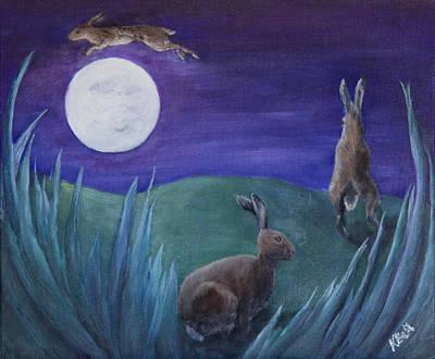 Jumping The Moon Art Print