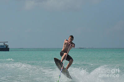 Wakeboarder Photograph - Jumping Wakeboarder by DejaVu Designs