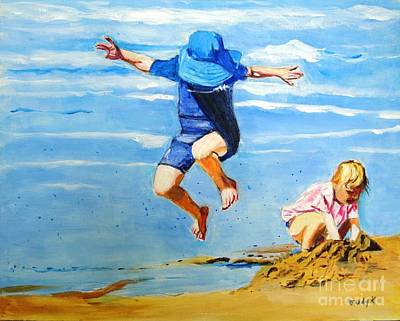 Painting - Jump'n Jack And Jill by Judy Kay