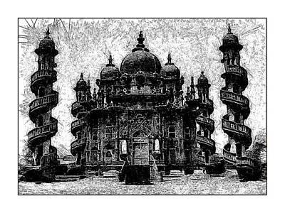 Mausoleum Digital Art - Junagarh Mausoleum by Ck Gandhi
