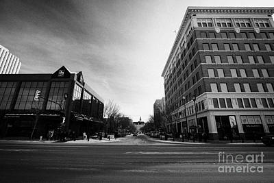 junction of first avenue and 21st street east at the canada bullding downtown Saskatoon Saskatchewan Art Print
