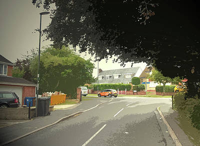 Junction Drawing - Junction Of Normanton Lane And Valley, Suburban Scene by Litz Collection