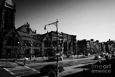 Crosswalk Photograph - junction of west 122nd street and Malcolm X boulevard Lennox Avenue Harlem new york city by Joe Fox