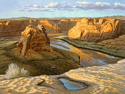 Arizona Painting - Junction Overlook - Canyon Dechelly by Paul Krapf