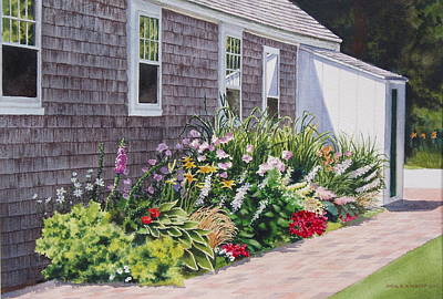 Art Print featuring the painting June Burst by Karol Wyckoff