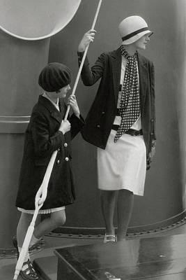 June Cox And Elizabeth Miller Art Print by Edward Steichen