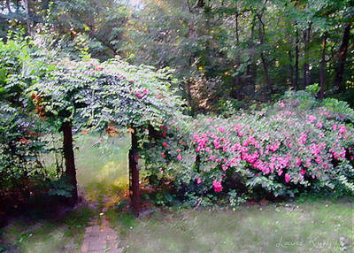 Photograph - June Garden by Louise Kumpf