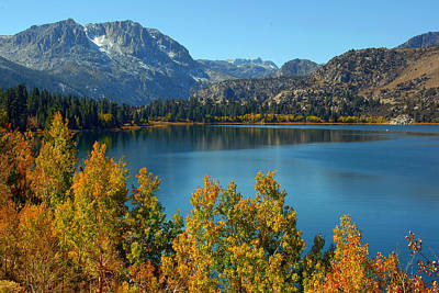June Lake Blues And Golds Art Print by Lynn Bauer