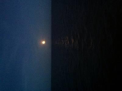 A Summer Evening Photograph - June Moon by Debra Burgess