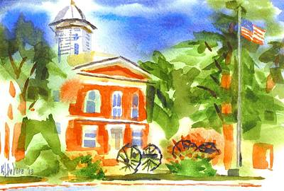 June Morning At The Courthouse Original by Kip DeVore