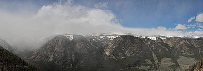 Photograph - June Snow Squall Coming Down The Valley by Victoria Porter