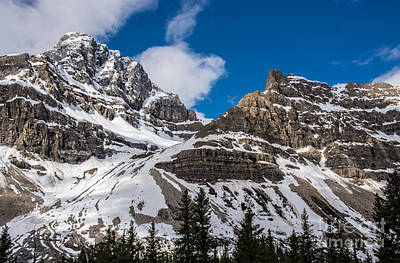 Photograph - June Sun On Snow-capped Canadian Rockies by Gerda Grice