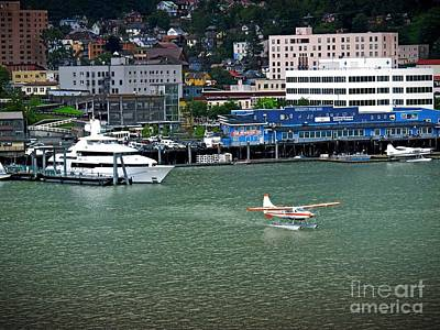 Photograph - Juneau Alaska By Air And Boat by Phyllis Kaltenbach