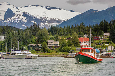 Juneau, Alaska, Usa Art Print by Tom Norring