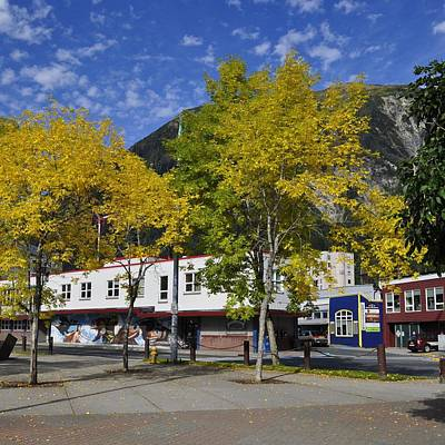 Juneau In The Fall Art Print by Cathy Mahnke