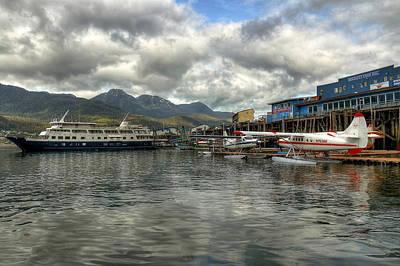 Juneau's Hangar On The Wharf Art Print