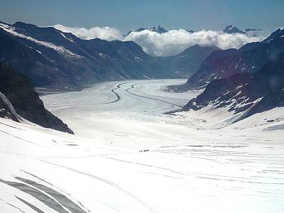 Jungfrau Glacier Art Print