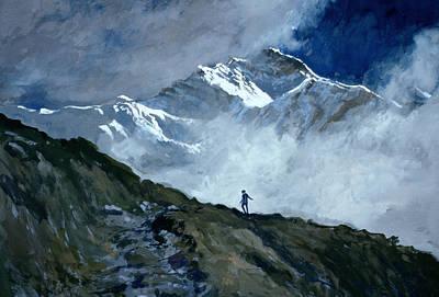 Fog Painting - Jungfrau by John Cooke