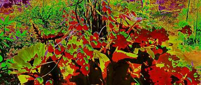 Jungle Abstract Art Print by Mike Breau
